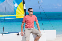 Young man on a vacation Royalty Free Stock Photography