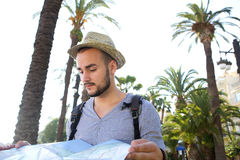 Young man on vacation Royalty Free Stock Photography