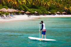 Young man on vacation stock image