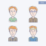 Young man vector avatar Stock Photography