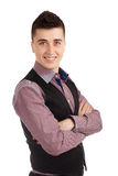 Young man in a vest Royalty Free Stock Image
