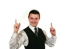 Young man in vest Royalty Free Stock Photos