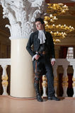 Young man in vintage costume Royalty Free Stock Photo