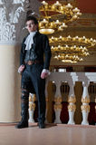 Young man in vintage costume Royalty Free Stock Photos