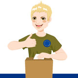 Young Man Voting Royalty Free Stock Images