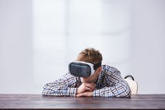 Young man with vr glasses Royalty Free Stock Photo