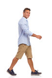 Young Man Walking Royalty Free Stock Photo