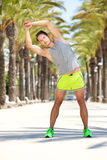 Young man warm up fitness exercise workout Royalty Free Stock Photography