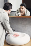 Man washing his hands Royalty Free Stock Photo