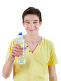 Young Man with the Water Royalty Free Stock Photography