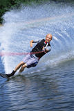 A young man water skiing stock images