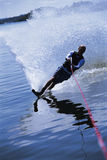 A young man water skiing Royalty Free Stock Photo
