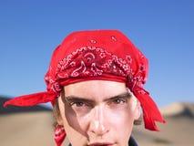 Young Man Wearing Bandana stock photos