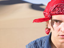 Young Man Wearing Bandana Stock Images