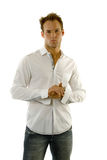 Young man wearing casual outfit Royalty Free Stock Image