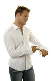 Young man wearing casual outfit Royalty Free Stock Photography