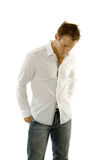 Young man wearing casual outfit Royalty Free Stock Photos