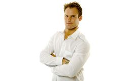 Young man wearing casual shirt Royalty Free Stock Image