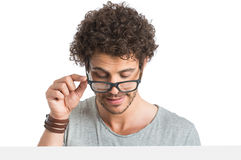 Young Man Wearing Eyeglasses Stock Photos