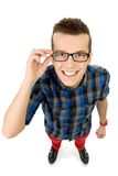 Young man wearing glasses Royalty Free Stock Images