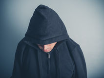 Young man wearing a hooded top Stock Photos