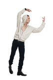 Young man wearing a hoodie Royalty Free Stock Images