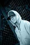 Young man wearing a hoody Royalty Free Stock Photos