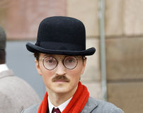 Young man wearing old fashioned tweed clothes Royalty Free Stock Photography