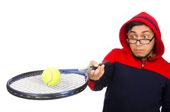 Young man wearing sport costume isolated on the Royalty Free Stock Images