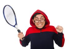 Young man wearing sport costume isolated on the Royalty Free Stock Photo