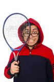 Young man wearing sport costume isolated on the Royalty Free Stock Photos