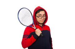 Young man wearing sport costume isolated on white Stock Photography