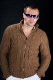 Young man wearing sunglasses Stock Photos