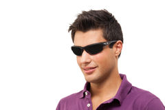 Young man wearing sunglasses Royalty Free Stock Images