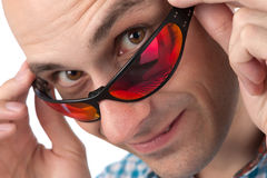 Young man wearing sunglasses Royalty Free Stock Image