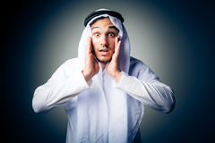 Young Man Wearing Traditional Arabic Clothing Royalty Free Stock Image