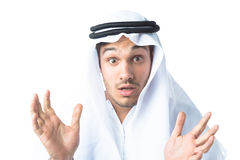 Young Man Wearing Traditional Arabic Clothing Stock Photos