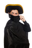 Young man wearing tricorn and coat isolated on Stock Photos