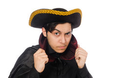 Young man wearing tricorn Royalty Free Stock Images