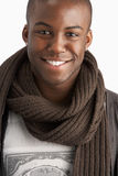 Young Man Wearing Winter Clothing In Studio Stock Images
