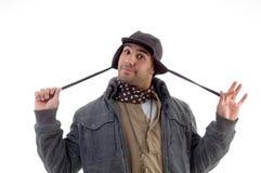 Young man wearing winter jacket Royalty Free Stock Image