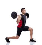 Young man weights training Royalty Free Stock Photos