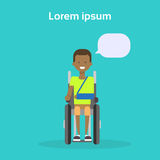 Young Man On Wheel Chair Happy African American Male Disabled Smiling Sit On Wheelchair Disability Concept Royalty Free Stock Images
