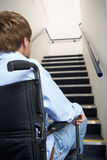 Young man in wheelchair Royalty Free Stock Photo