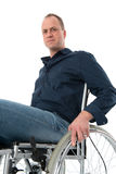 Young man in wheelchair Stock Photos