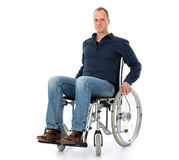 Young man in wheelchair Stock Image