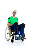 Young man in a wheelchair Royalty Free Stock Images