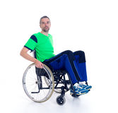 Young man in a wheelchair Royalty Free Stock Photography