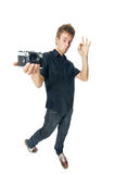 Young man on white Royalty Free Stock Images