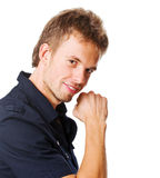 Young man on white Royalty Free Stock Photography